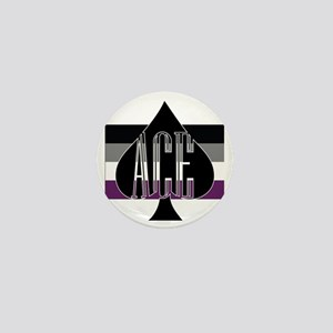 Ace Spade Mini Button