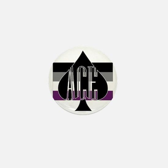Ace Spade Mini Button