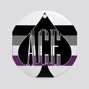 Ace Spade Round Ornament