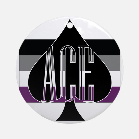 Ace Spade Round Ornament