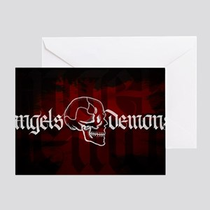 Angels Demons - Hellfire Edition Greeting Card