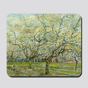 Van Gogh White Orchard Mousepad