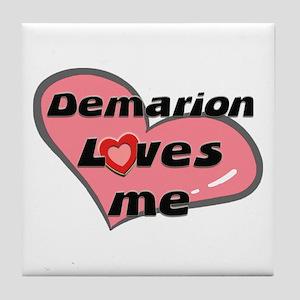 demarion loves me  Tile Coaster