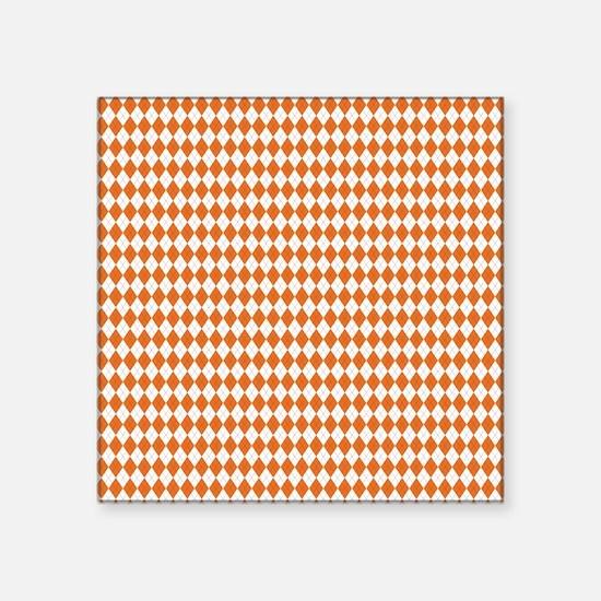 "Clemson Argyle Sock Pattern Square Sticker 3"" x 3"""