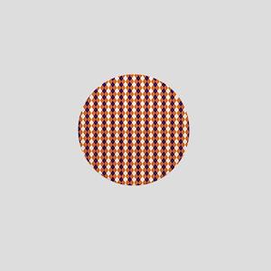 Clemson Argyle Sock Pattern South Caro Mini Button