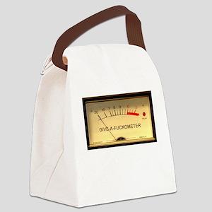 VUMeterDark Canvas Lunch Bag