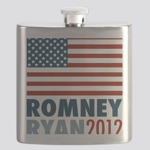 Romney Ryan 2012 American Flag Flask