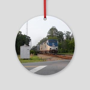 Jan Train1 Round Ornament
