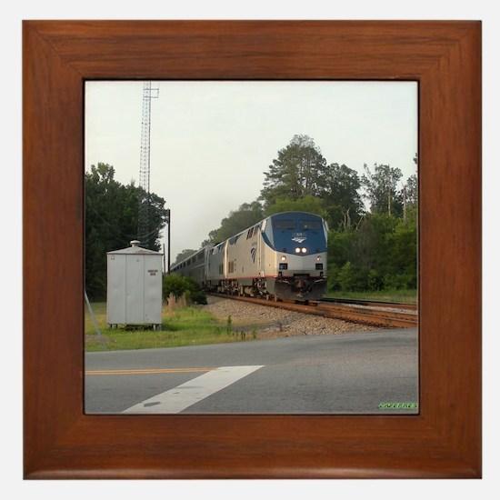 Jan Train1 Framed Tile