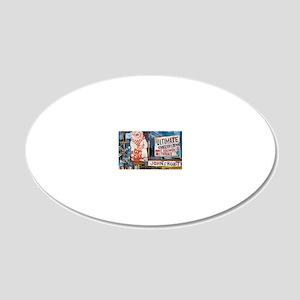 Philadelphia Johns Roast Por 20x12 Oval Wall Decal