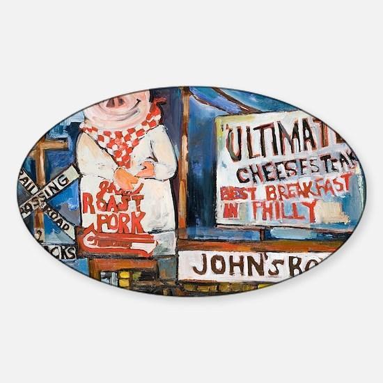 Philadelphia Johns Roast Pork Sticker (Oval)