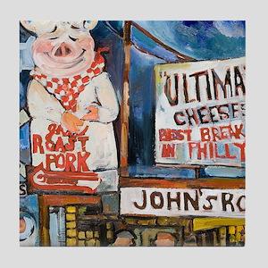 Philadelphia Johns Roast Pork Tile Coaster