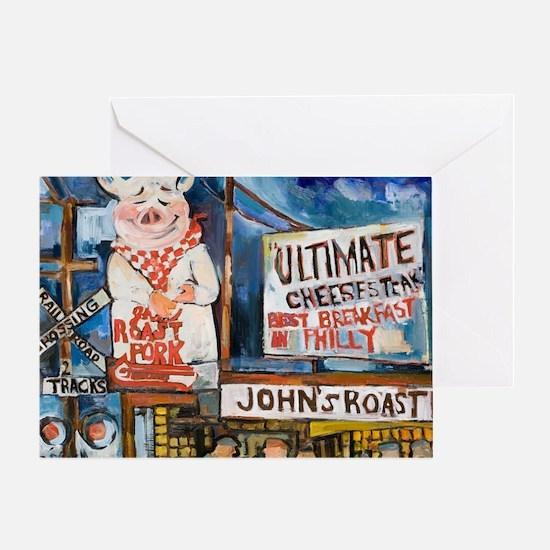Philadelphia Johns Roast Pork Greeting Card