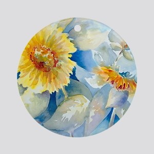 Sunflowers SQ2 Round Ornament