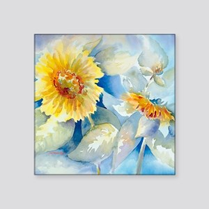 "Sunflowers SQ2 Square Sticker 3"" x 3"""