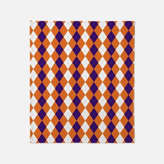 Clemson Argyle Sock Pattern South Ca Throw Blanket
