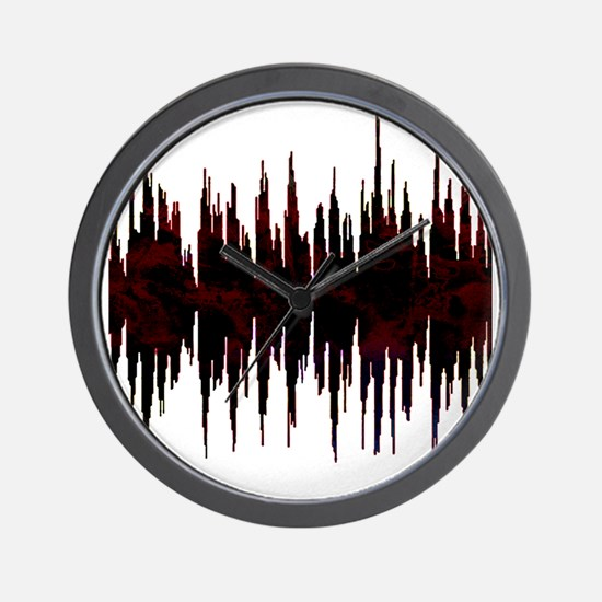 Synthesized Army Audio Wave Wall Clock