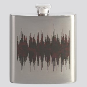 Synthesized Army Audio Wave Flask