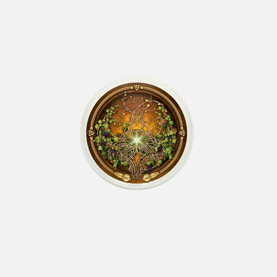 Sacred Celtic Trees - Vine Mini Button