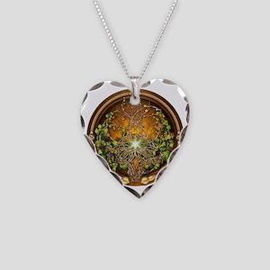 Sacred Celtic Trees - Vine Necklace Heart Charm