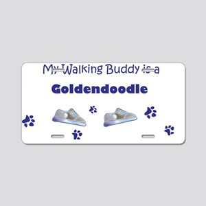 my walking buddy is a golde Aluminum License Plate