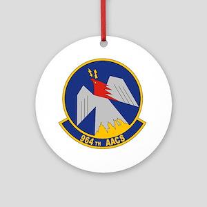 USAF 964th Airborne Air Control Squ Round Ornament