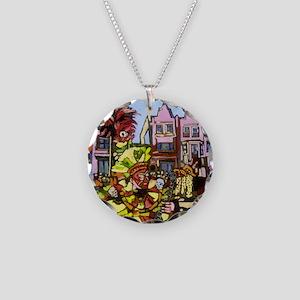 Philadelphia Mummers Parade Necklace Circle Charm