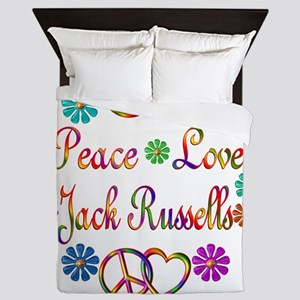 Peace Love Jack Russells Queen Duvet