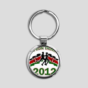 Kenya we run things 2012 Round Keychain