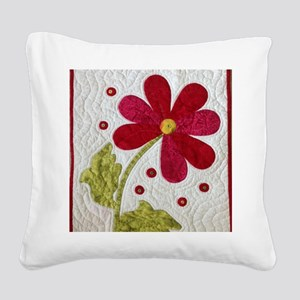 Give Yourself Flowers Today Square Canvas Pillow