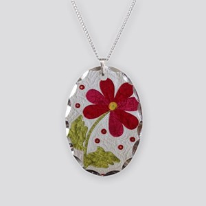 Give Yourself Flowers Today Necklace Oval Charm