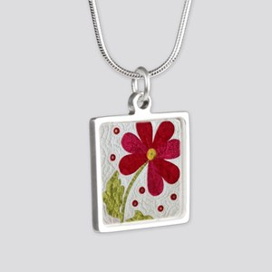 Give Yourself Flowers Toda Silver Square Necklace