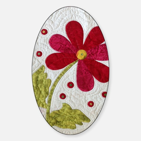 Give Yourself Flowers Today Sticker (Oval)