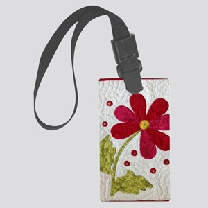 Give Yourself Flowers Today Large Luggage Tag