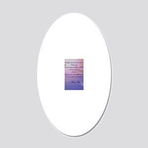 GRATITUDE POEM 20x12 Oval Wall Decal