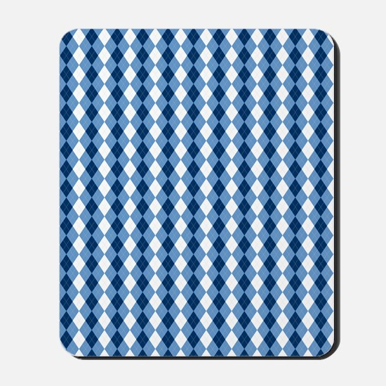 Carolina Blue Argyle Sock Pattern North  Mousepad