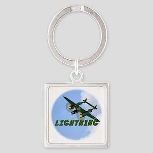 P-38 Lightning Square Keychain