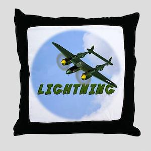 P-38 Lightning Throw Pillow