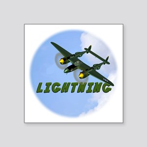 "P-38 Lightning Square Sticker 3"" x 3"""