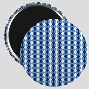 Carolina Blue Argyle Sock Pattern North Car Magnet