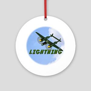 P-38 Lightning Round Ornament