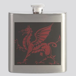 Welsh Red Dragon Flask