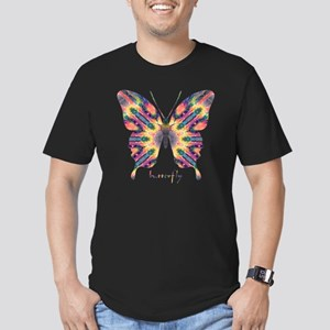Delight Butterfly Men's Fitted T-Shirt (dark)