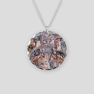 Philadelphia Benjamin Frankl Necklace Circle Charm
