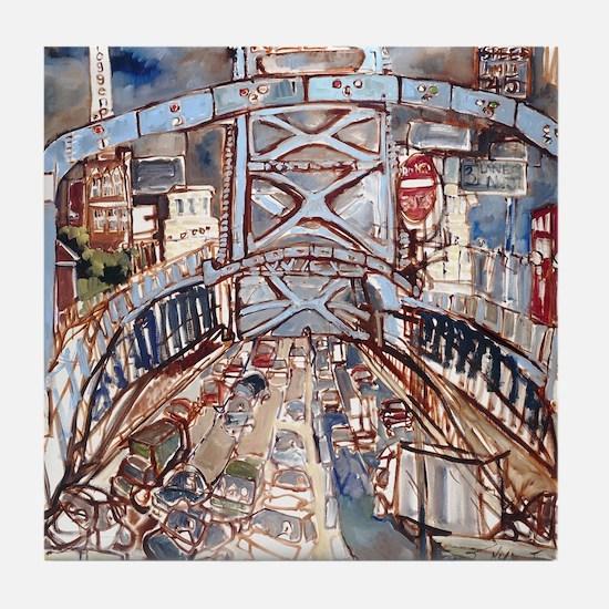 Philadelphia Benjamin Franklin Bridge Tile Coaster