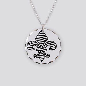 ZEBRA TEAM DYNASTY Necklace Circle Charm