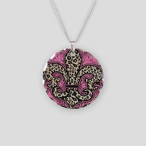 LEOPARD TEAM DYNASTY BRAND Necklace Circle Charm