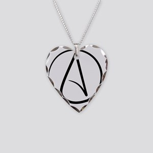 Atheist Symbol Necklace Heart Charm