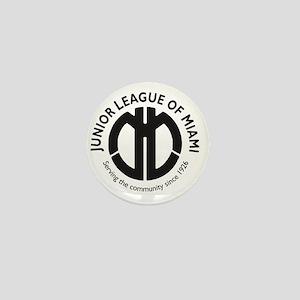 JLM Round Black Mini Button