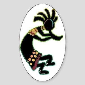Dancing Kokopelli-glo Sticker (Oval)